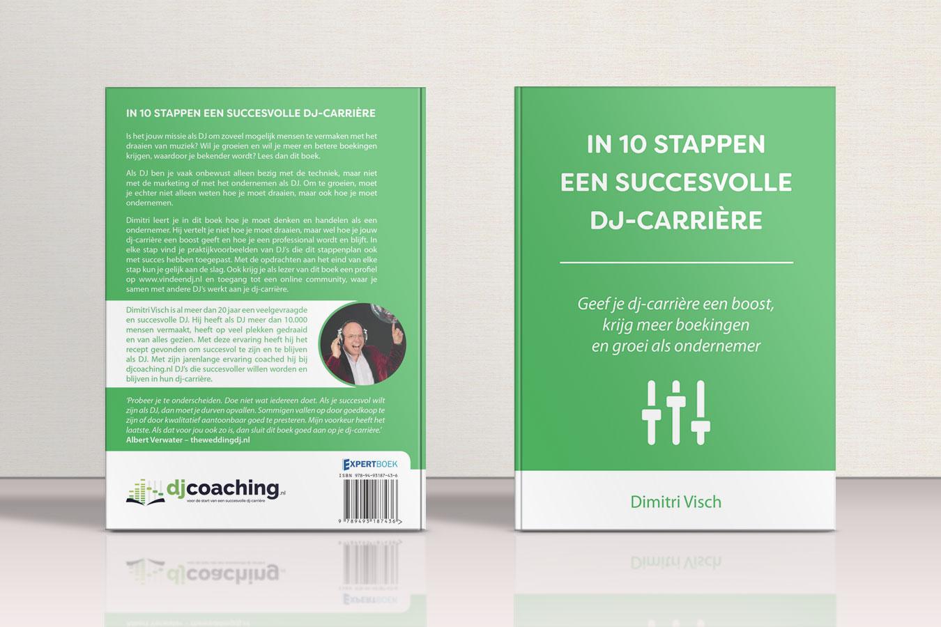 cover boek  DJ Coach Dimitri Visch in 10 stappen een succesvolle dj carriere